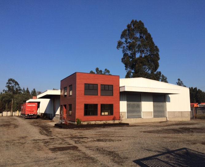 Nave de carga en transportes Frontera, Temuco